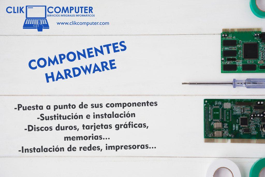 Instalación de componentes como discos duros, impresoras, instalación de redes,etc.