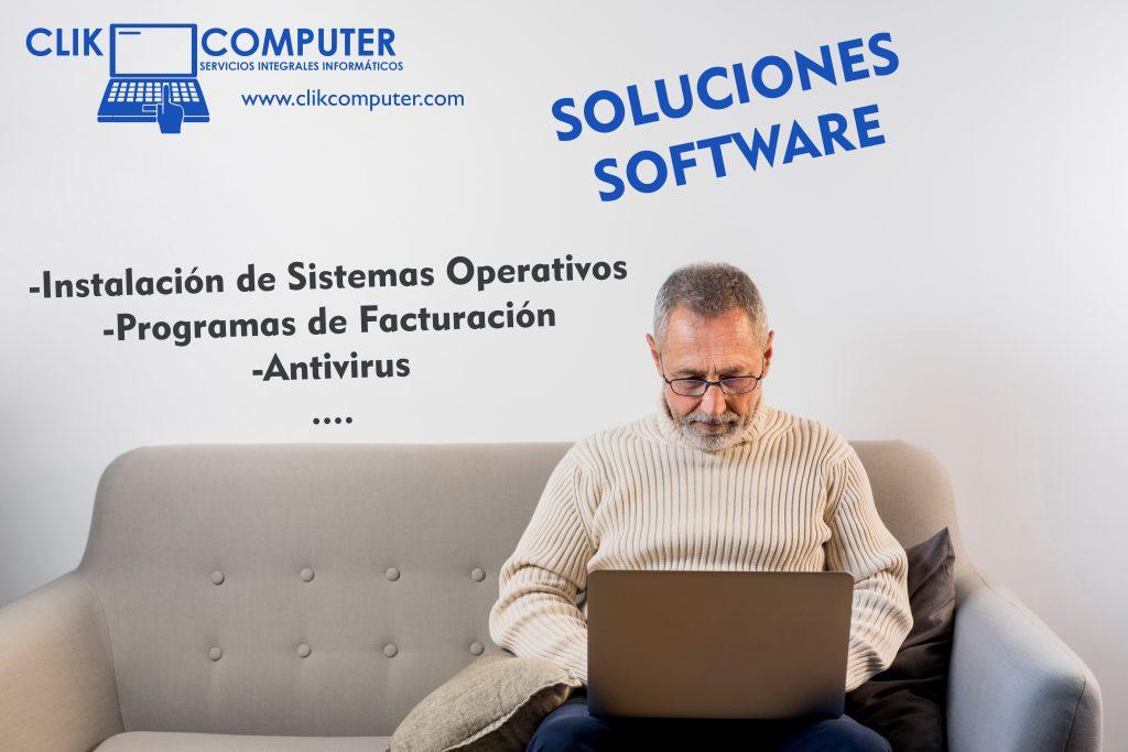 Instalación de programas como sistemas operativos, facturación, antivirus, etc.